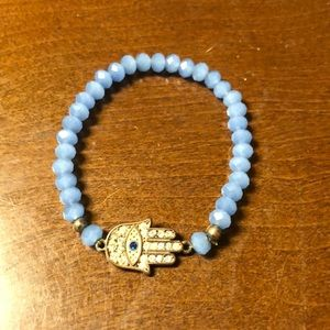 Express Hamsa Swarovski Bead Bracelet